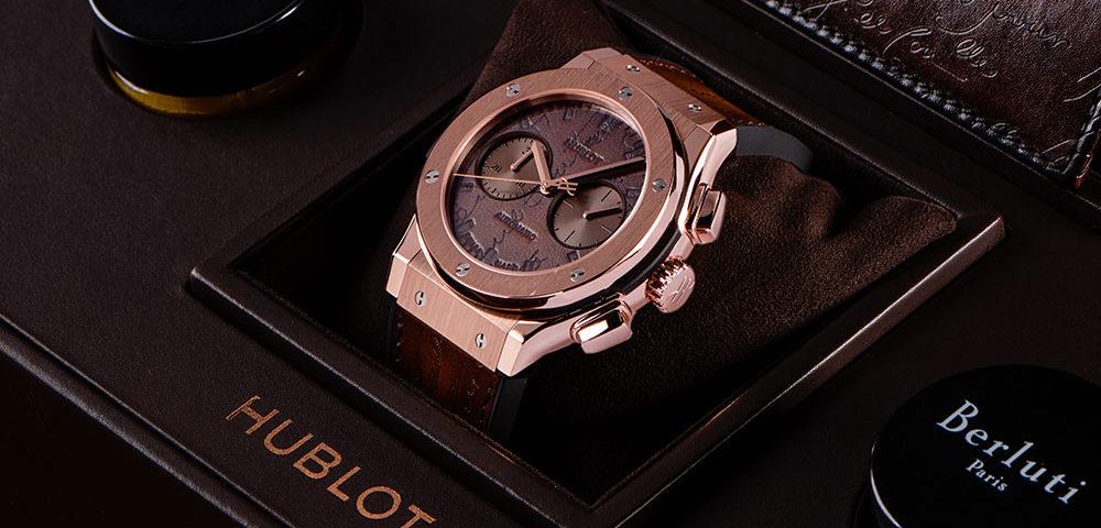 Replik Uhren Hublot Classic Fusion Berluti Scritto Chronograph