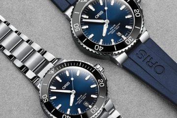 Replica Uhren Oris Aquis Datum Automatik Edelstahl Schwarz Oder Blau 39.5MM