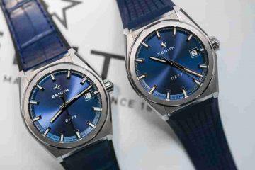 Baselworld 2018 Schweizerisch Replica Uhren Zenith Defy El Primero Klassisch Blaues Zifferblatt 41mm Ultra Dünn