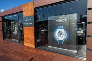 Replica Uhren Zenith Defy El Primero 21 Automatik Chronographen Porto Cervo Edition Weiß Keramik Lünette Titan 44mm
