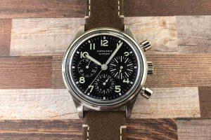 Schweizer Replica Uhren Longines Avigation BigEye Automatik Chronographen Vintage Zifferblatt Schwarzes 41mm