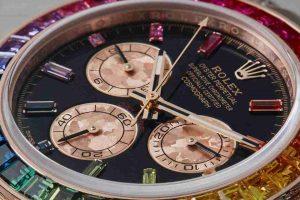 Replica Uhren Rolex Daytona Regenbogen Chronographen 18 Karat Everose Gold