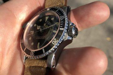 Ein 1965 Replik Uhren Rolex Submariner Ref. 5513 und eine Patek Philippe Acryl Bewegung