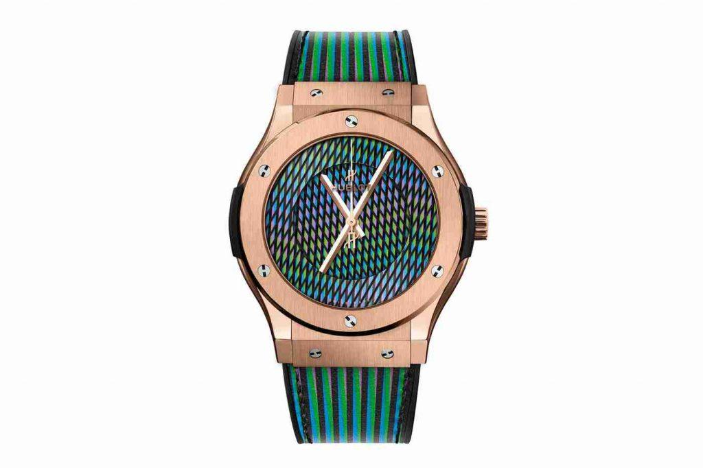 Replica Uhren Hublot Classic Fusion Cruz-Diez Keramik, Titan, König Gold Limitierte Auflage
