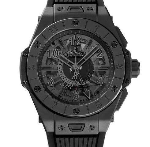 Replica Uhren Hublot Big Bang GMT Alle Schwarz Schwarz Keramik 45mm Yohji Yamamoto Bewertung