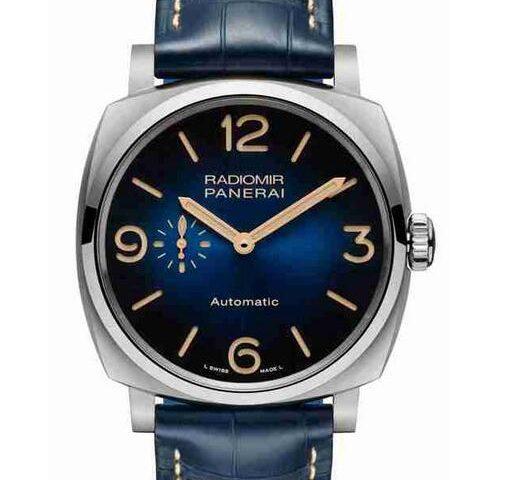 Replica Uhren Panerai Radiomir Mediterraneo Automatik Blaues Zifferblatt Titan Limitierte Auflage Kaufanleitung
