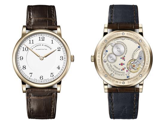 Beschreibung der Replik Uhren A. Lange & Söhne 1815 Thin Honeygold Hommage an F. A. Lange
