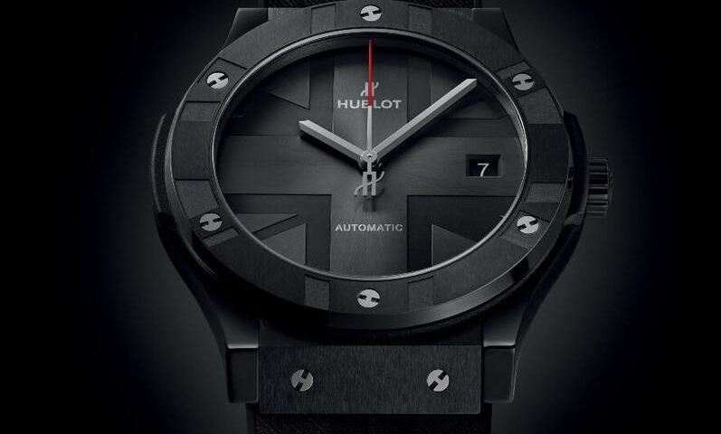 Replik Uhren Hublot Classic Fusion Schwarz Keramik London Sonderausgabe 45mm 511.CM.7070.RX.BHL20