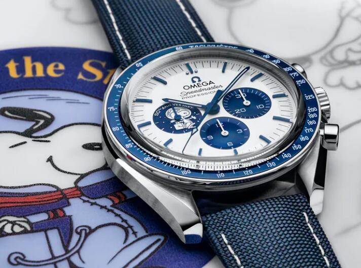 Replica Uhren Omega Speedmaster Silber Snoopy Award 50. Jahrestag Chronographen Einkaufsführer 1