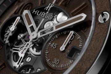 Die Replik der Uhren Hublot Urknall Unico Berluti Kaltbraune Keramik 3