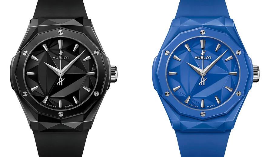 Replik Uhren Hublot Classic Fusion Orlinski Schwarzes blaues Zifferblatt Keramik 40mm 1