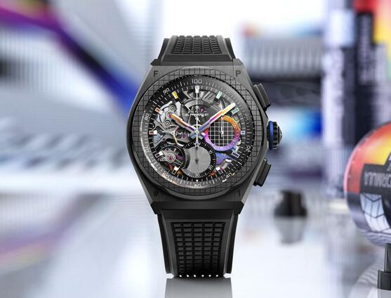 Replik Uhren Zenith Defy 21 Automatische Felipe Pantone Chromatische Street Art Bewertung 2